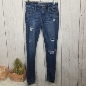 Distresse Amrican eagle outfitters jeggings size 2